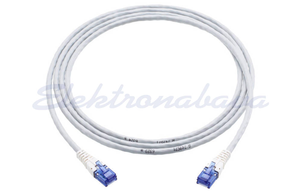 Slika izdelkaPriključni kabel R&M U/UTP Cat.6 5m Cu, siv, LSZH