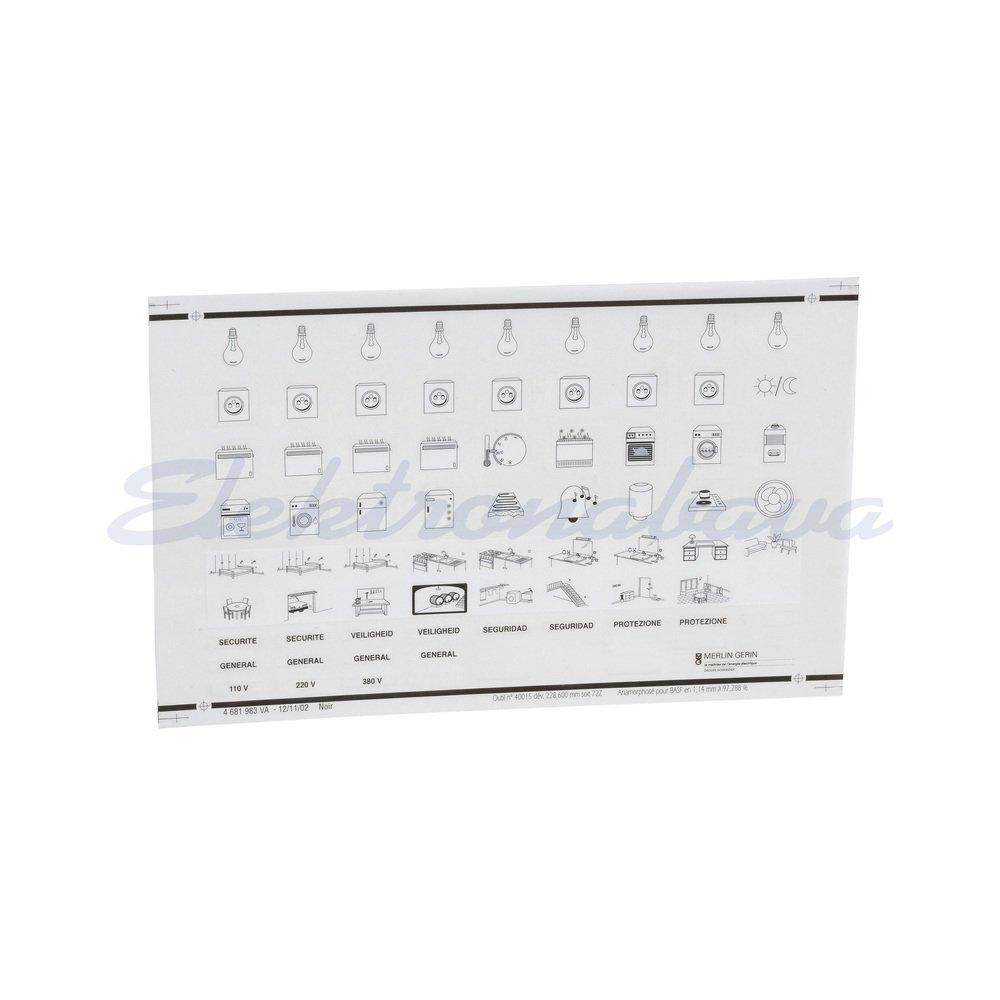 Slika izdelkaPribor za inštalac. omarico MINI PRAGMA Nalepke simbolov 13735 standar