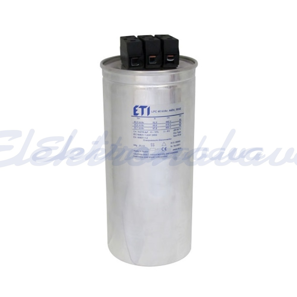 Slika izdelkaEnergetski kondenzator LPC 15kVar 480V 50Hz 3F