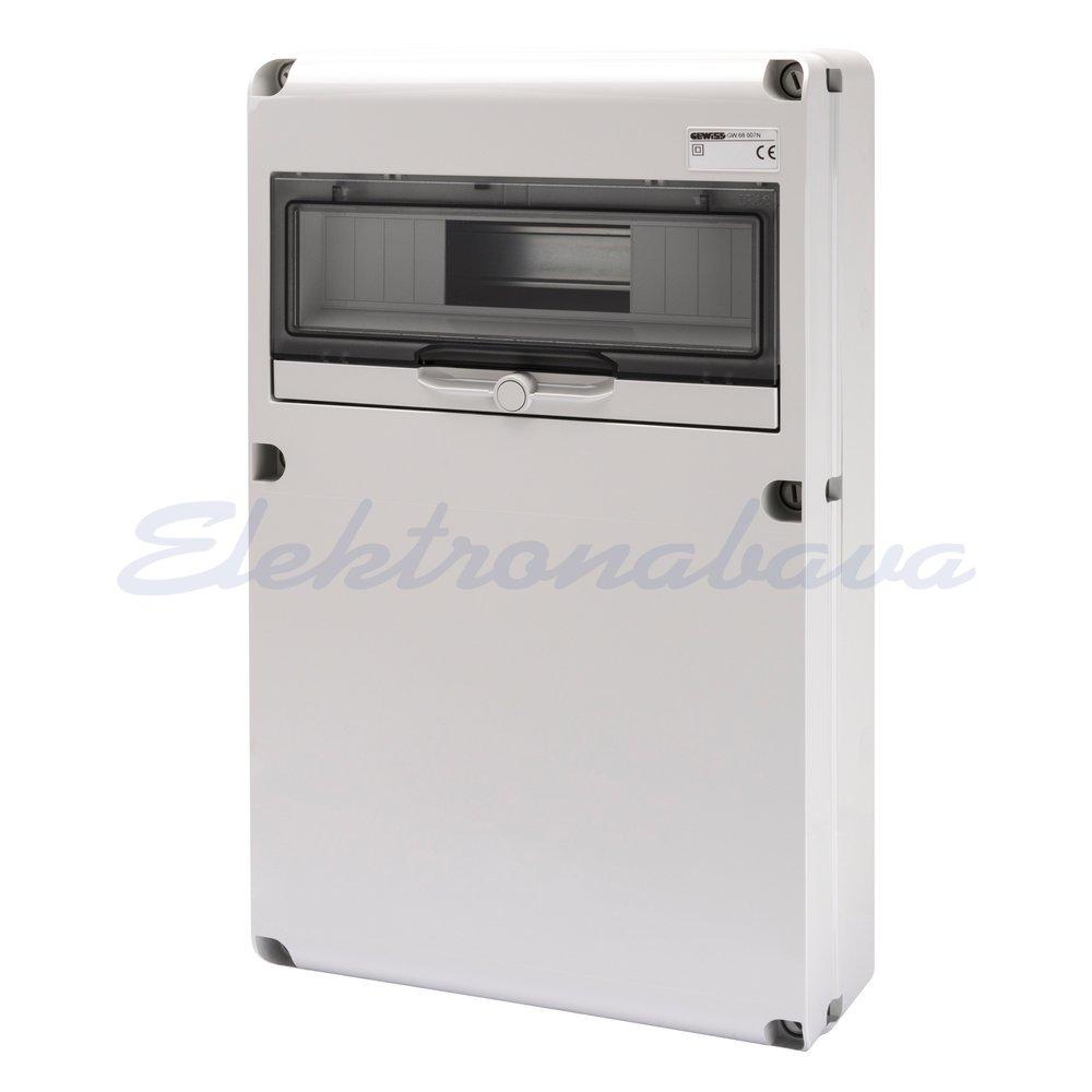 Slika izdelkaGradbiščna omarica GEWISS 68 Brez izrezov 14M DIN IP65 320mm 510mm 135mm