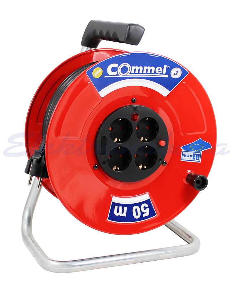 Slika izdelkaKabelska roleta Commel H05VV-F 3G2,5mm2 25m kovina 4x230V / 16A IP44 0909