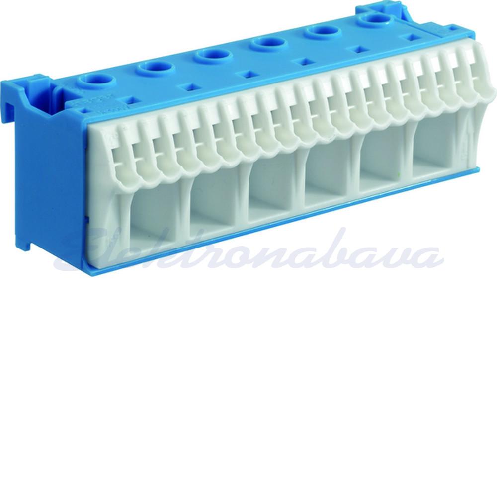 Slika izdelkaPribor za inštalac. omarico HAGER Ničelna sponka (6x 1,5-25mm2 vij. + 20x 1,5-4mm2 BV)