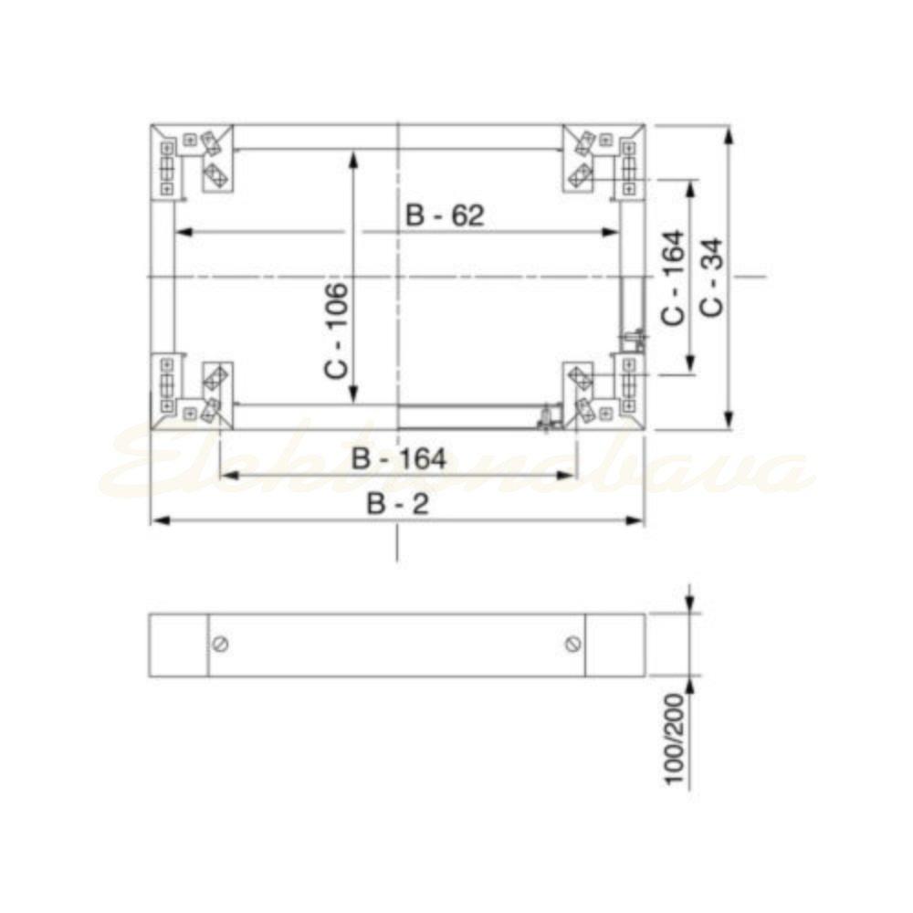 Slika izdelkaPodstavek za omaro I SPACIAL Širinski 100mm 1200mm 2,5mm Inox