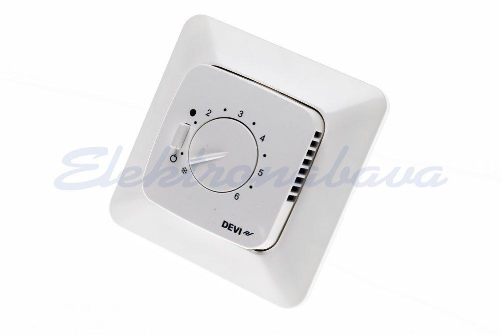 Slika izdelkaSobni termostat DEVIreg 530 P/O analogni BE 5-35ST.C s talnim tipalom