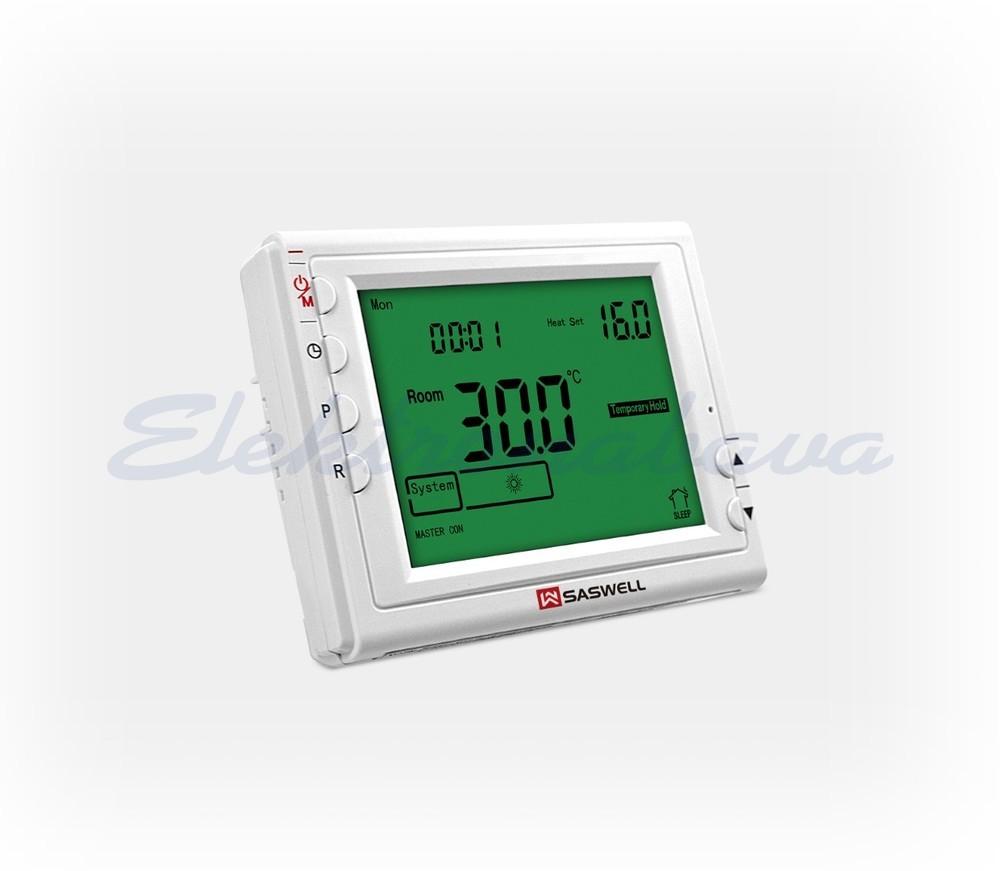 Slika izdelkaSobni termostat SASWELL N/O digitalni tedenski BE 5-35ST.C 8A/230V