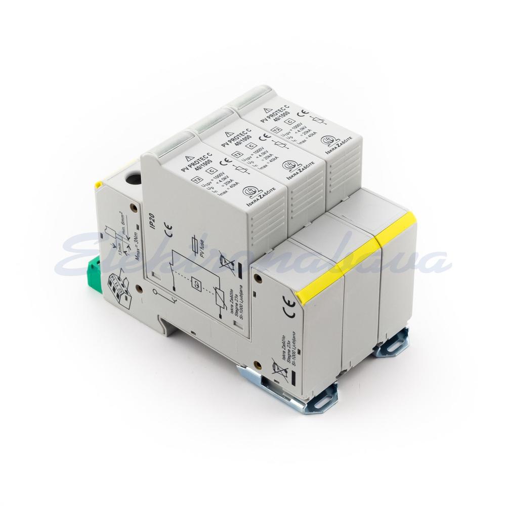 Slika izdelkaPren. zaščita Fotovoltaika PV PROTEC CR T2 2P 40kA 1000V