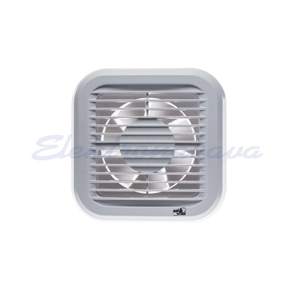 Stanovanjski ventilator MTG N cevna zapora fi120mm 230V BE IPX4 PVC 190m3/h