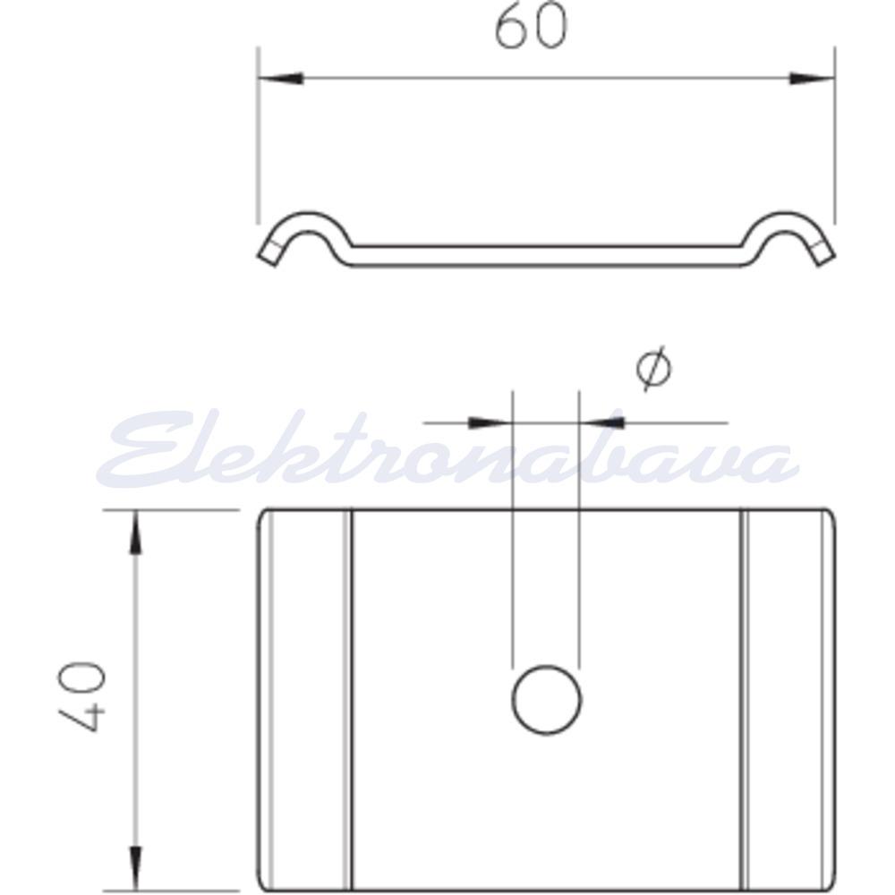 Obo Bettermann Stezni element za vijak M6, 60x40mm cinkano