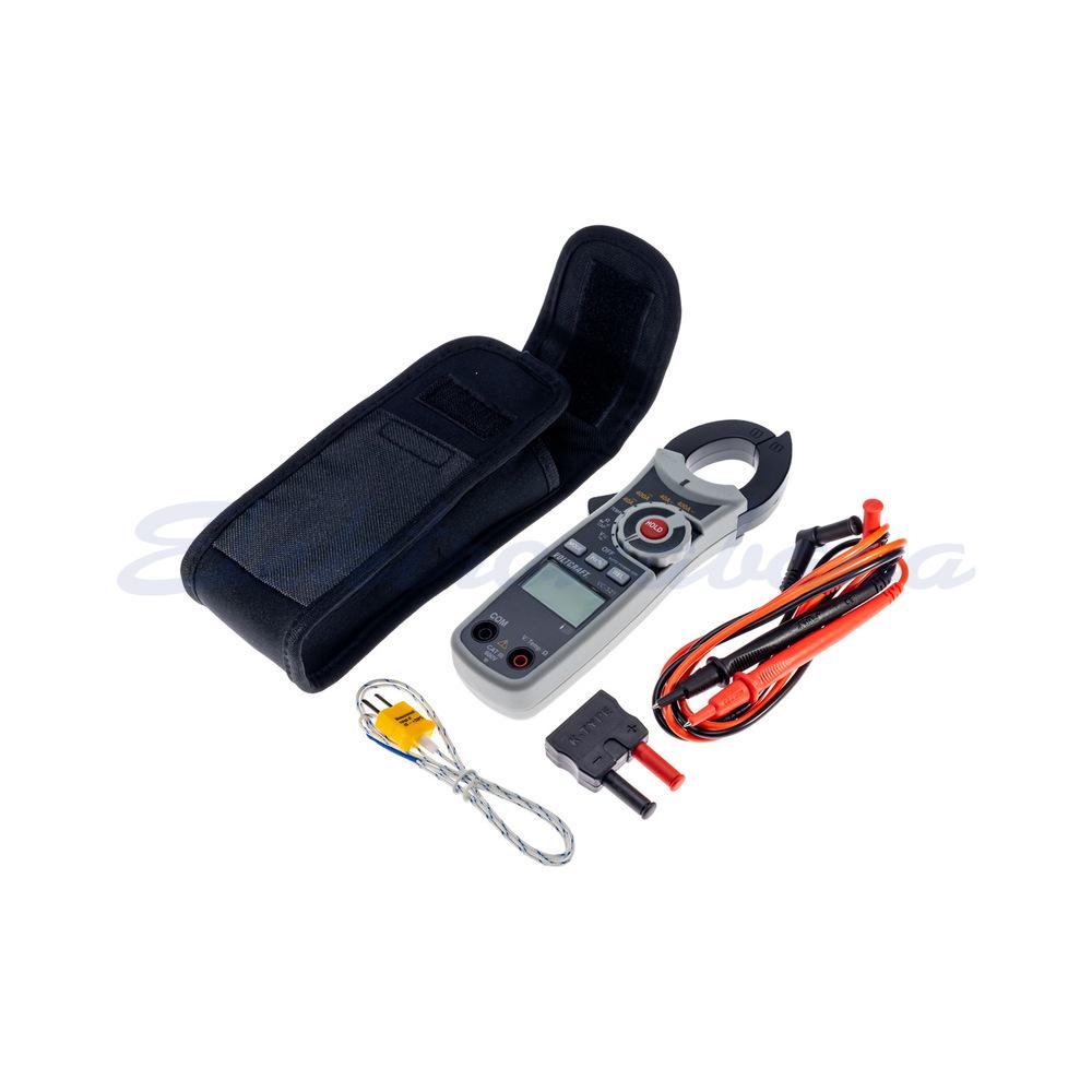 Slika izdelkaMerilne klešče, ročne VOLTCRAFT 400A DC/AC CAT III 600 (AVG) V/A/ohm/C/temp