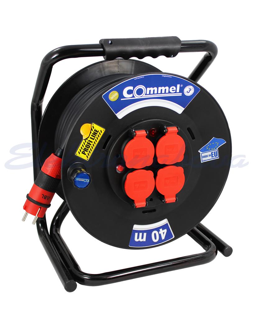 Slika izdelkaKabelska roleta Commel H07RN-F 3G2,5mm2 40m PVC 4x230V / 16A IP44