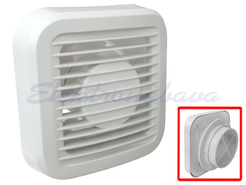 Slika izdelkaStanovanjski ventilator MTG N standard fi100mm 230V BE IPX4 PVC 98m3/h