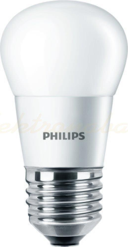 Slika izdelkaLED sijalka BUČKA CorePro LEDlustre P45 5,5-40W 470lm 827 E27 brez zatemnitve Mat 220-240V A+