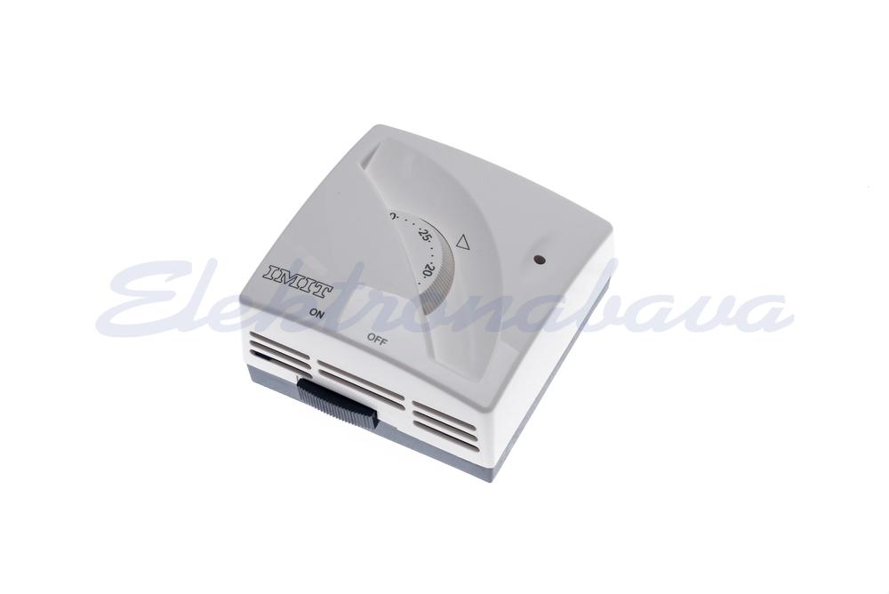 Slika izdelkaSobni termostat IMIT z lučko in stikalom N/O Z gumbom BE 5-30ST.C