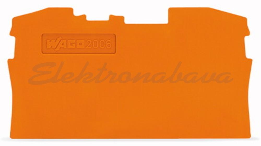 Slika izdelkaKončna in vmesna ploščica WAGO TOPJOB za 6mm2 OR 1mm