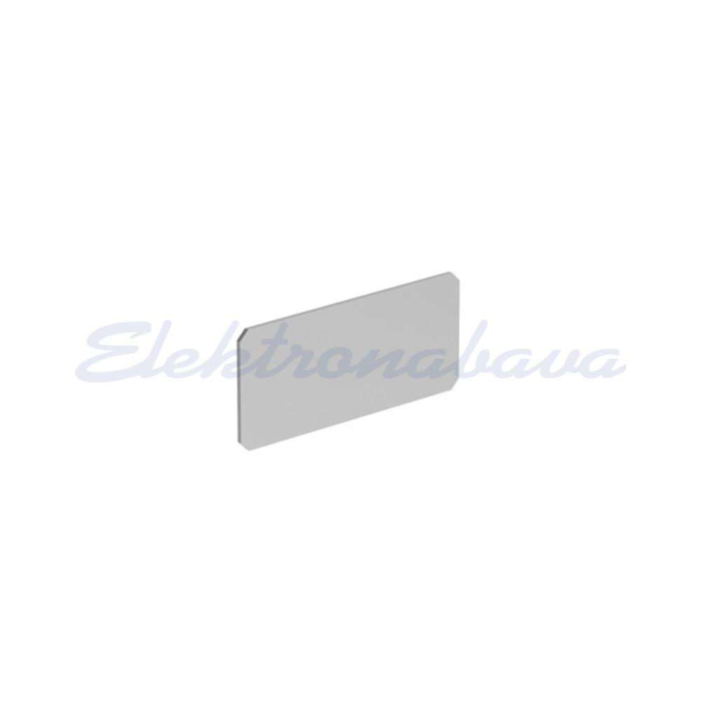 """Slika izdelkaNapisna ploščica PLATINUM za LPXAU100 pravokotno 27,5mm 12,5mm SI """"STOP"""""""