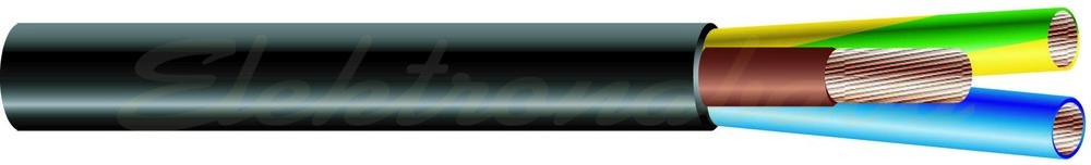 Slika izdelkaGumijasti kabel H07RN -F 3X1,5mm2 BOBEN