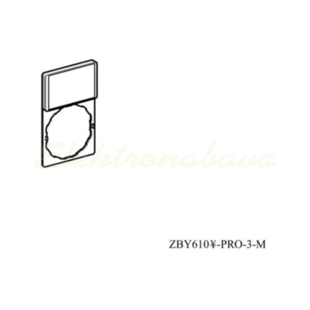 Slika izdelkaNapisna ploščica - nosilec HARMONY NOSILEC+ PLOSCICA ZA NAPISE pravokotno 30mm 50mm RD