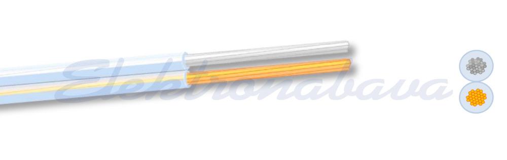 Kabel za ozvočenje TRANSPARENT LFZ-XY HF PRN 2X2,5mm2 Eca
