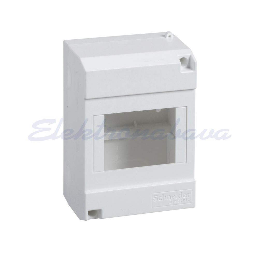 Slika izdelkaStanovanjska omarica MINI PRAGMA N/O BE 1vrst 4M 88mm 130mm 60mm IP30 brez pokrova