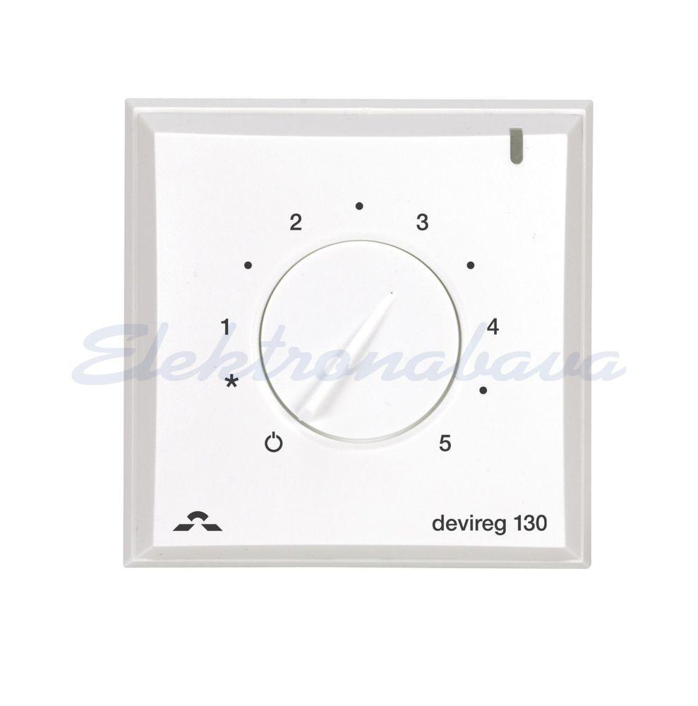 Slika izdelkaSobni termostat DEVIreg 130 N/O analogni 5-45ST.C s talnim tipalom