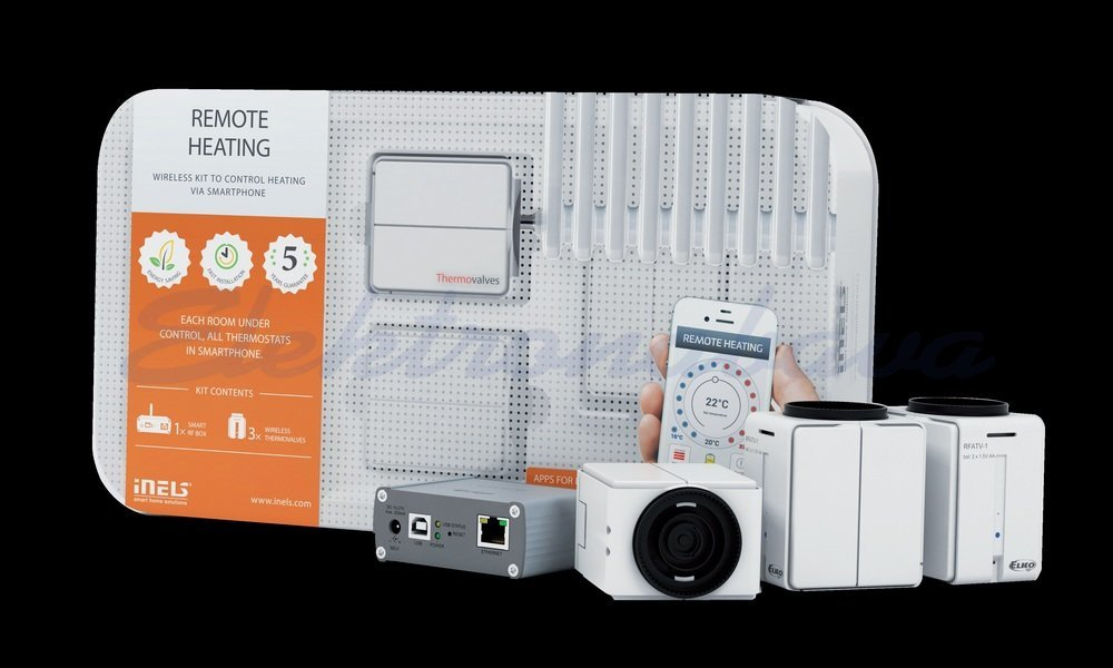 Slika izdelkaOsnovni komplet HAN INELS RF Ogrevanje 868MHz 1xSmartbox, 3x elektromagnetni ventil