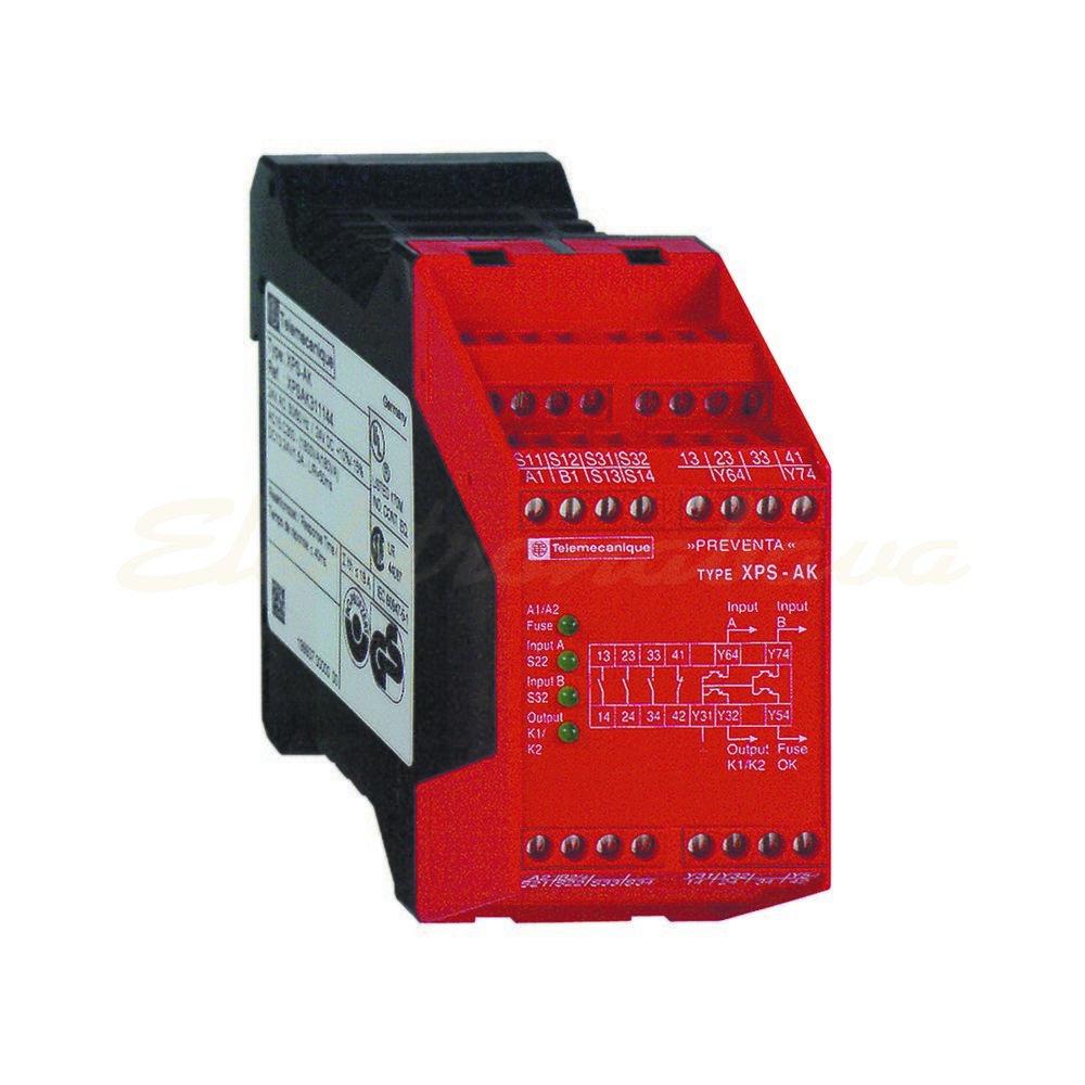 Slika izdelkaRele za varnostne tokokroge SCHNEIDER VARNOSTNI MODUL ES/SLB 3S 230V 230V 24V AC/DC