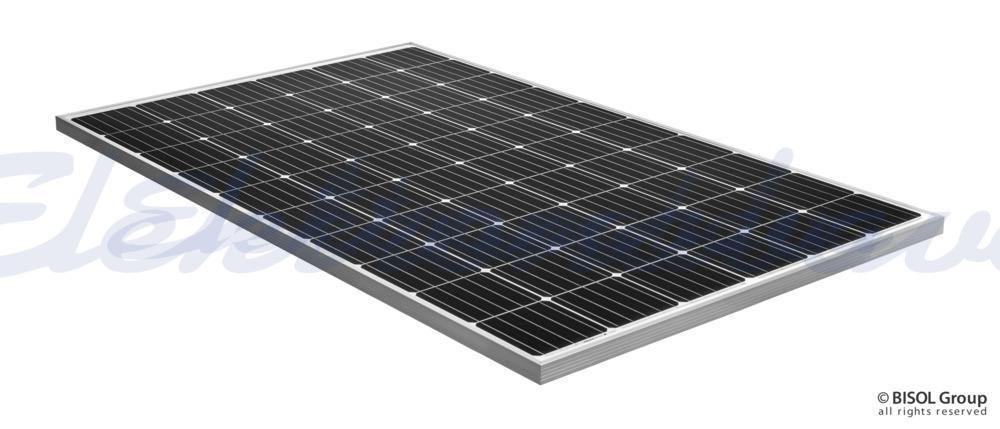 Slika izdelkaFotonapetostni modul BISOL Project 300Wp MONO srebrni okvir, bela hrbtna folija