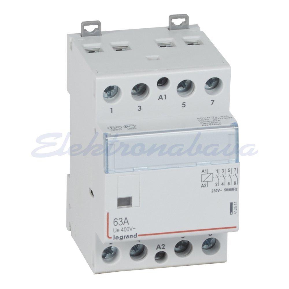 Slika izdelkaInštalacijski kontaktor CX3 SOHO 63A 4NO 230V AC 3M