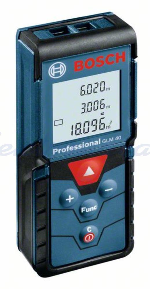 Slika izdelkaElektrično orodje, razno Bosch laserski merilnik razdalje GLM 40 (2x 1,5V AAA)