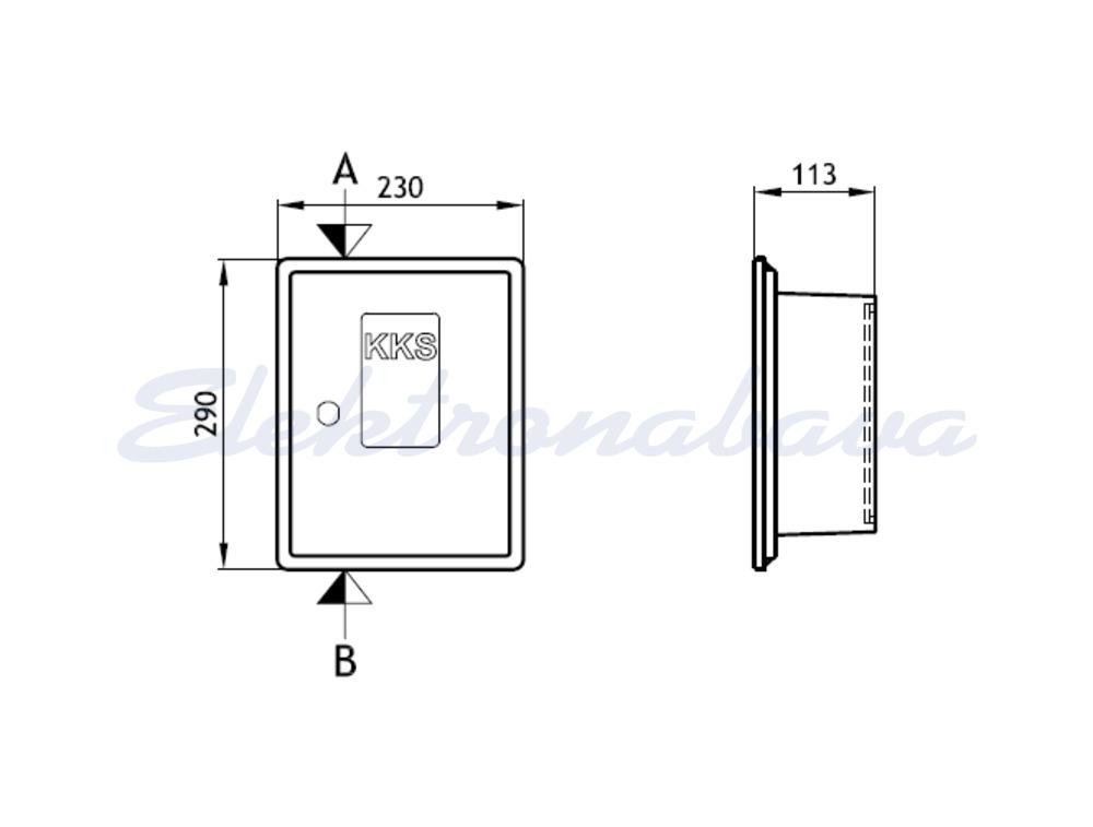 Slika izdelkaTelefonska omarica PREBIL PLAST KKS P/O 230mm 290mm 113mm PVC SI