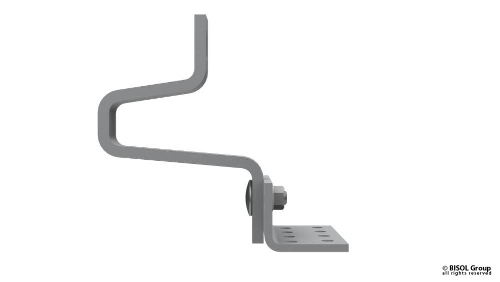 Slika izdelkaPribor za solarno konstrukcijo BISOL EasyMount dvojno nastavljiva kljuka 6-35