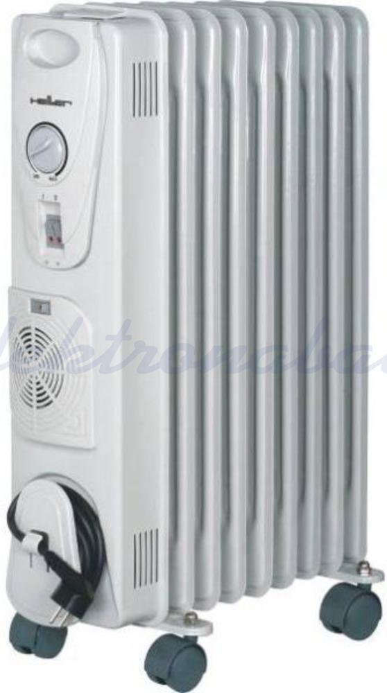 Slika izdelkaRebrasti radiator HELLER 2000W 9 z ventilatorjem prostostoječ