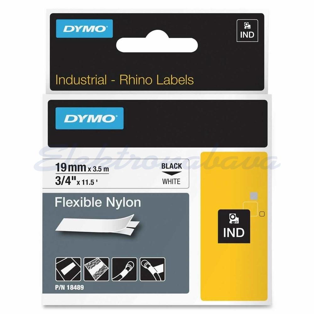 Slika izdelkaTrak za tiskalnik Dymo 19mm 3,5m ČR/BE Naylon