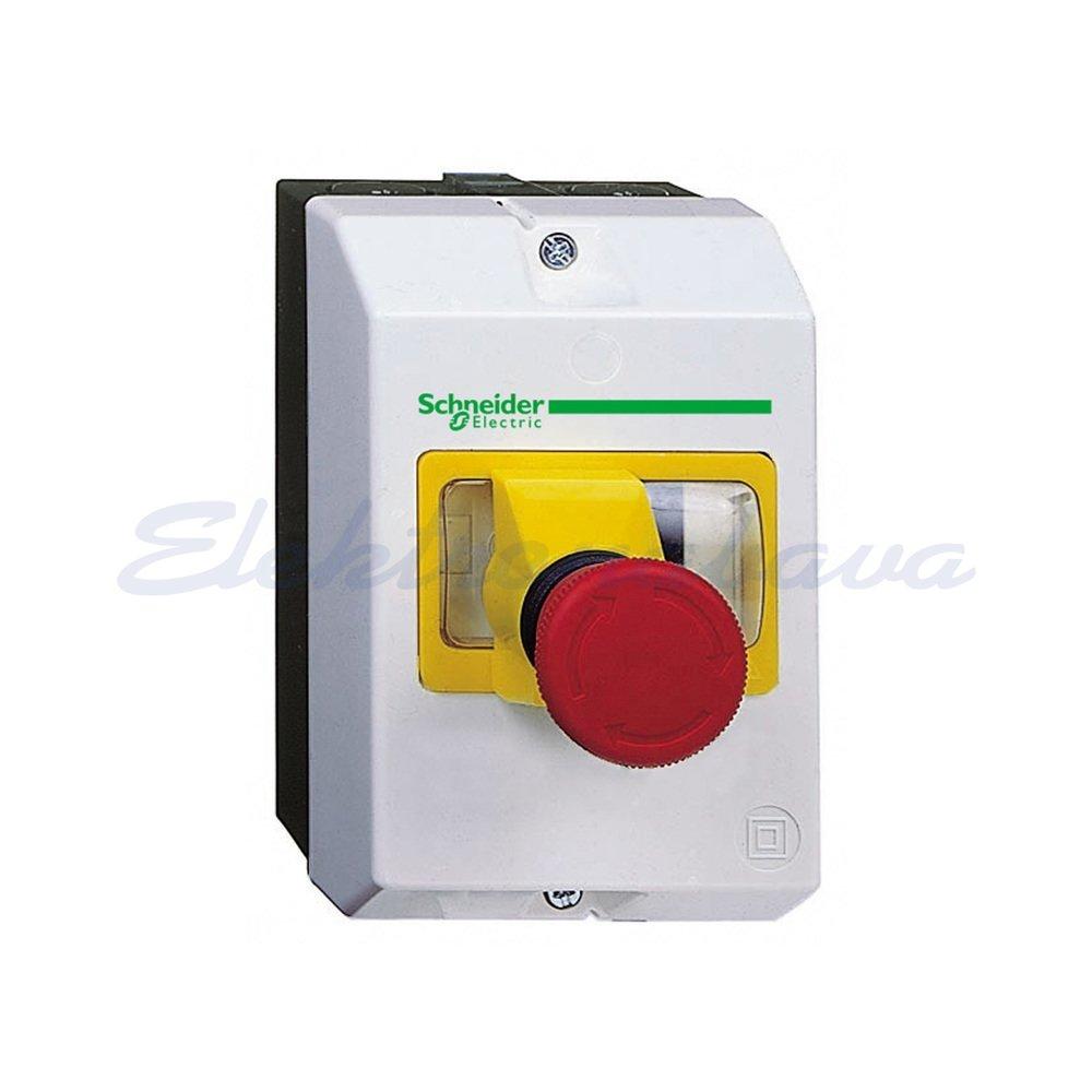 Slika izdelkaGobasta tipka - glava SCHNEIDER RDECA GOBASTA HD STOP-VRTLJIVA RD 40mm nesvetleč vzmet zasučna PVC