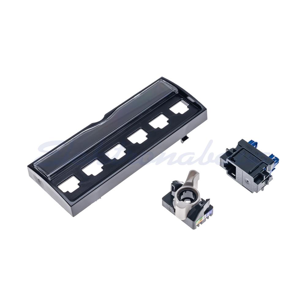 """Slika izdelkaPriključni panel LINKEO RJ45 8(8) U/UTP Cat.6 - modul za 10"""" panel"""