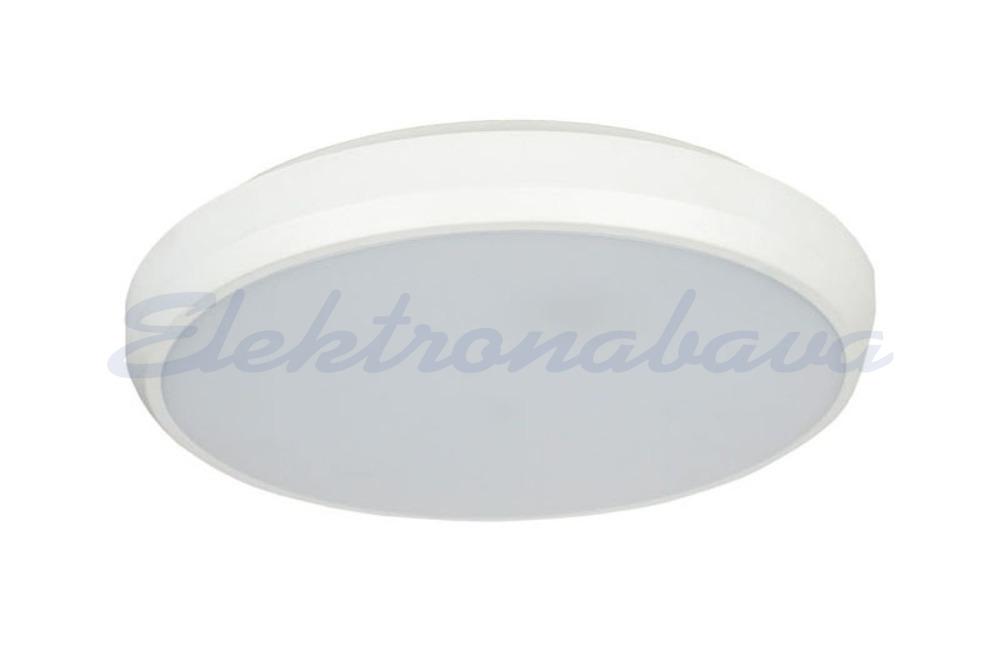 Slika izdelkaStropna/stenska plafonjera ROBUS ELEGANCE LED 18W 4000K 1800lm LED driver BE Okrogel fi 300mm IP54 220-240V IK10 A-A++