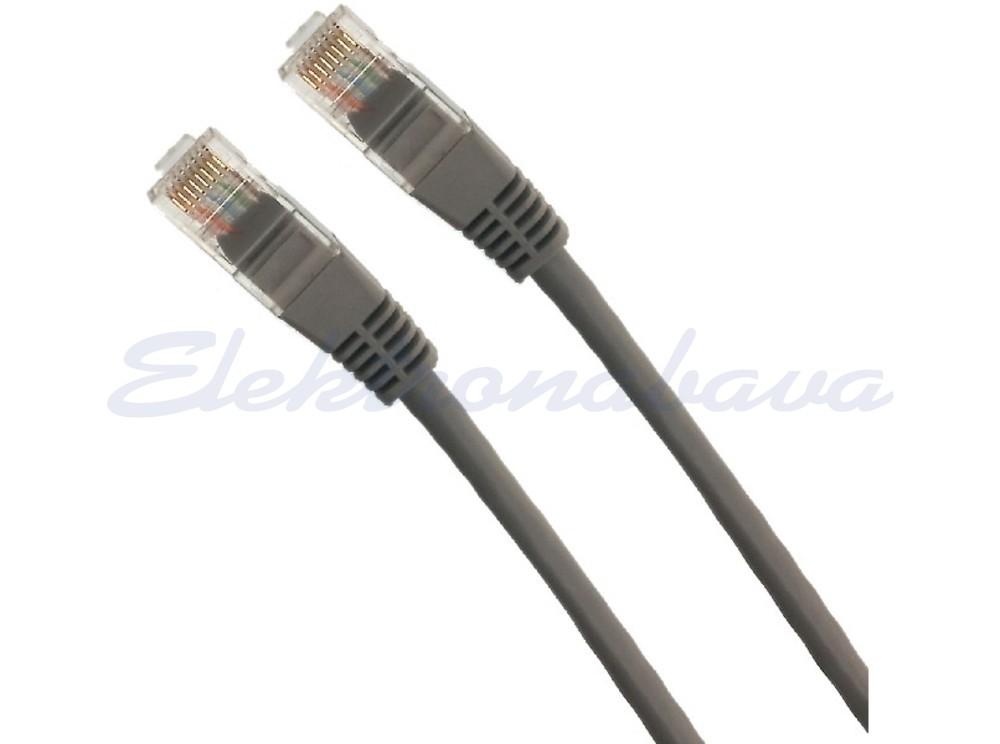 Slika izdelkaPriključni kabel U/UTP Cat.5E 3m CCA, siv, PVC