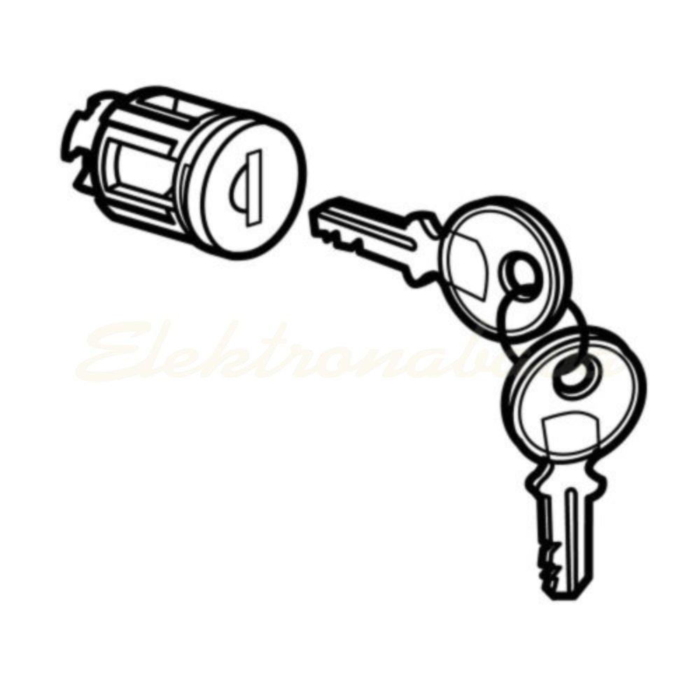 Slika izdelkaKljučavnica LEGRAND Cilindrična Tip 405, za XL3, 2 ključa
