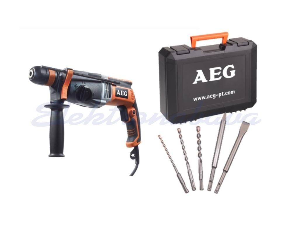 Slika izdelkaElek. orodje, udarni vrtalnik AEG KH28SUPERXEK-SET3, SDS+, 1100W 2,8J 0-5000o/min 30/13/28mm