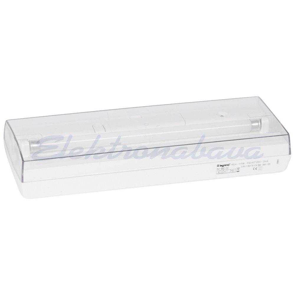 Slika izdelkaZasilna svetilka LEGRAND S8 140lm 8W 140lm Pripravni spoj 1h G5 IP40