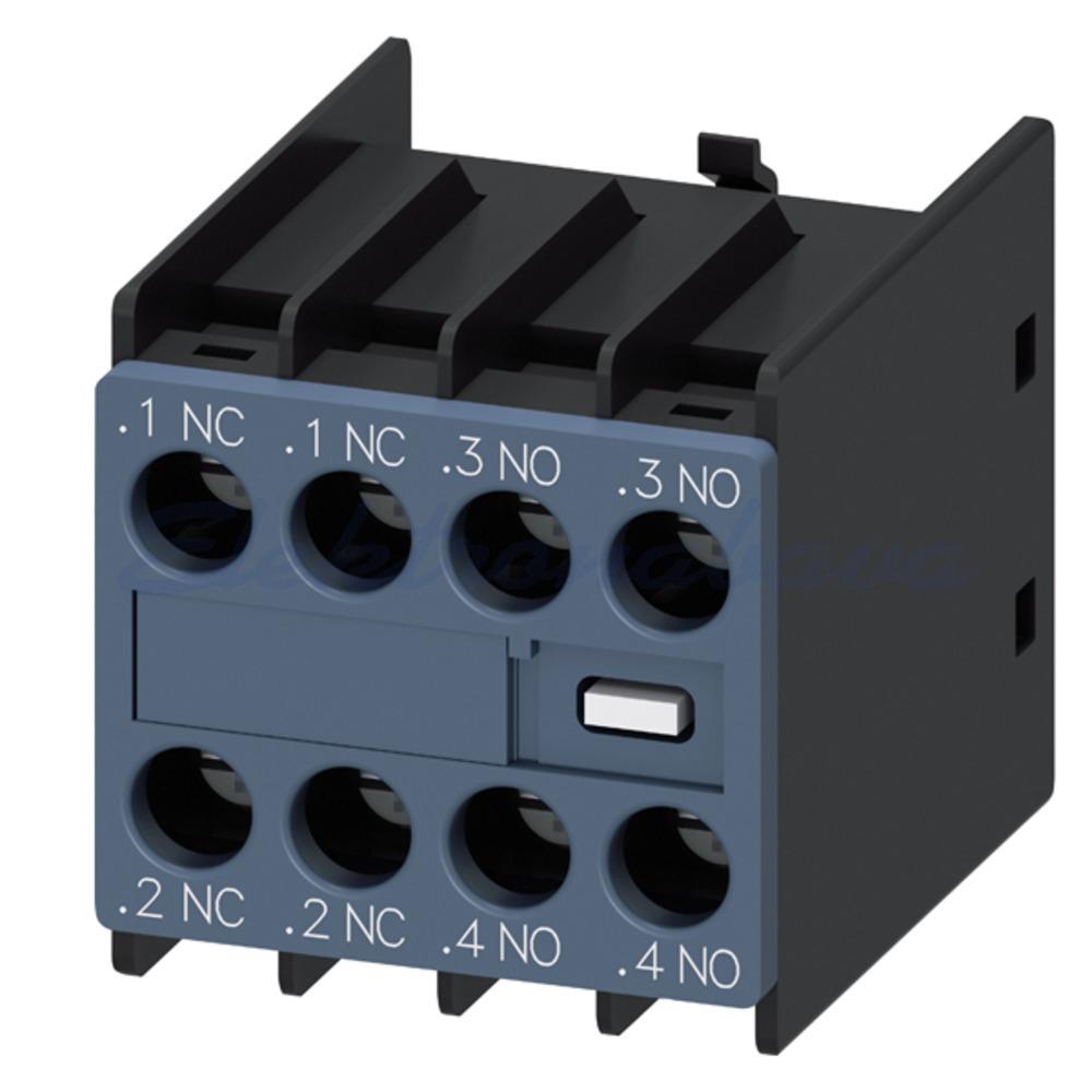 Slika izdelkaKontaktor - pomožni kontakt SIRIUS S00/S0 2NO 2NC 0CO Z vrha