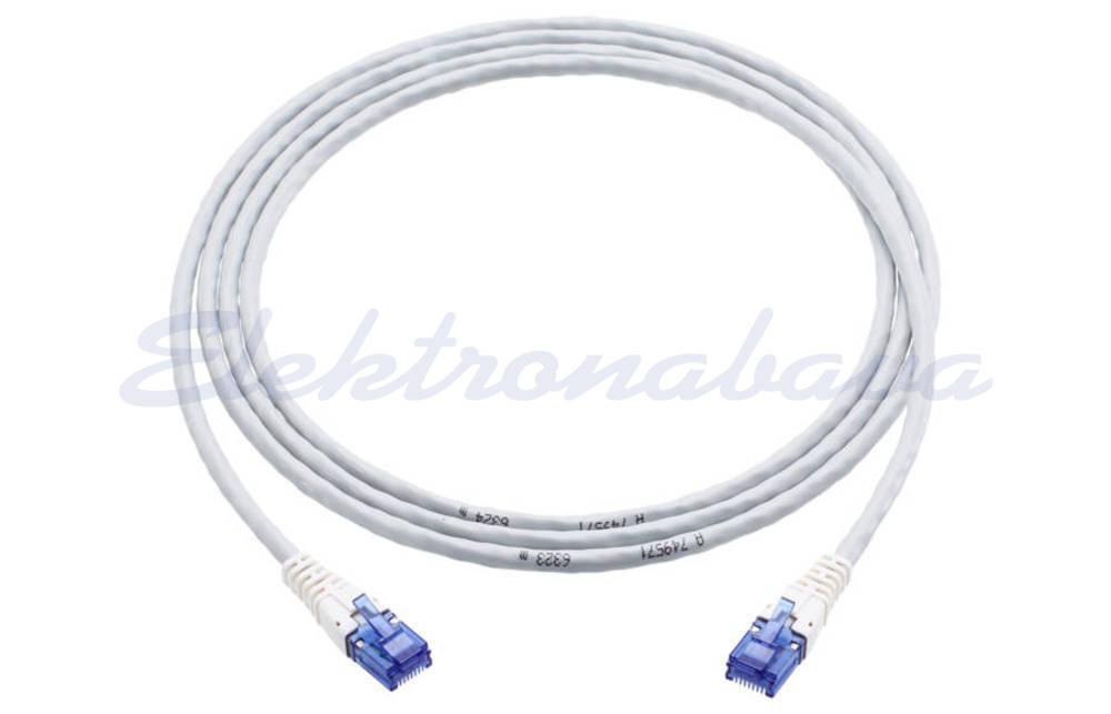 Slika izdelkaPriključni kabel R&M U/UTP Cat.6 2m Cu, siv, LSZH