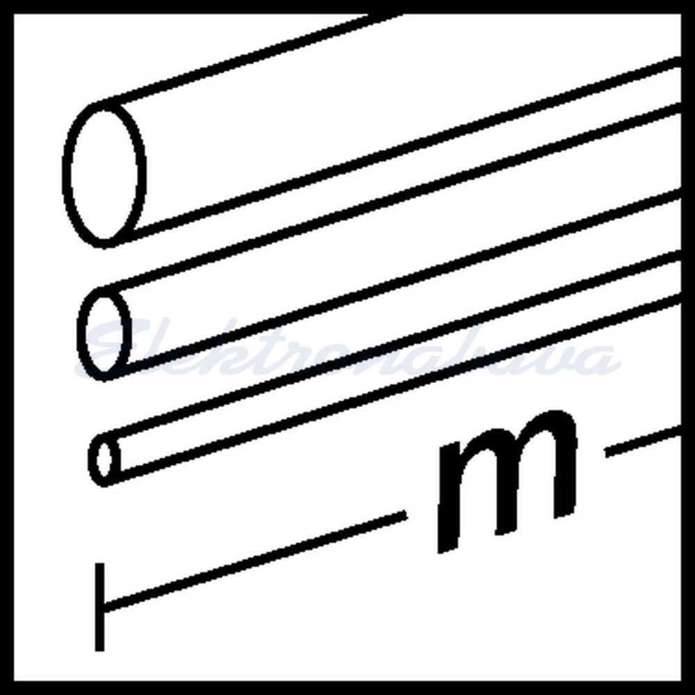 Toplotno skrčljiva cev Hellermanntyton MA47 12mm 3mm 1000mm srednja-stensko ČR -55ST.C 04:01 z lepilom