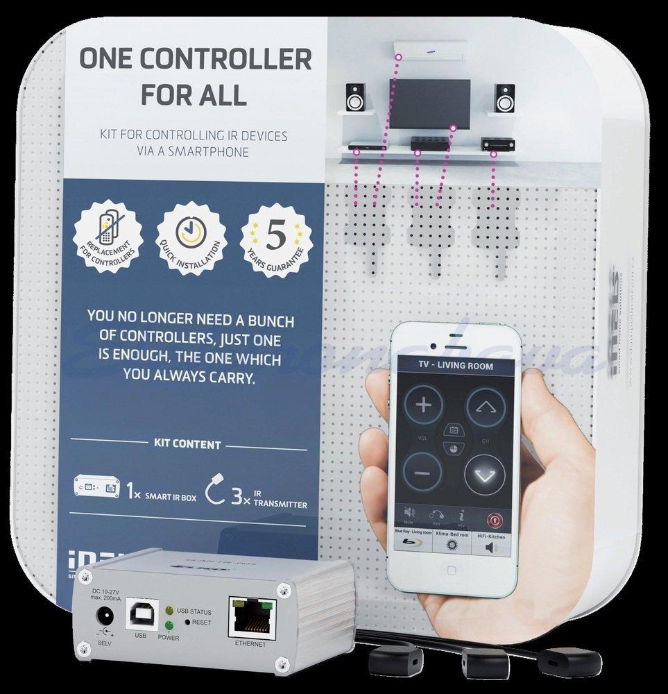 Slika izdelkaOsnovni komplet HAN INELS RF 1xSmart IR box, 3x IR oddajnik IR upravljanje 868MHz