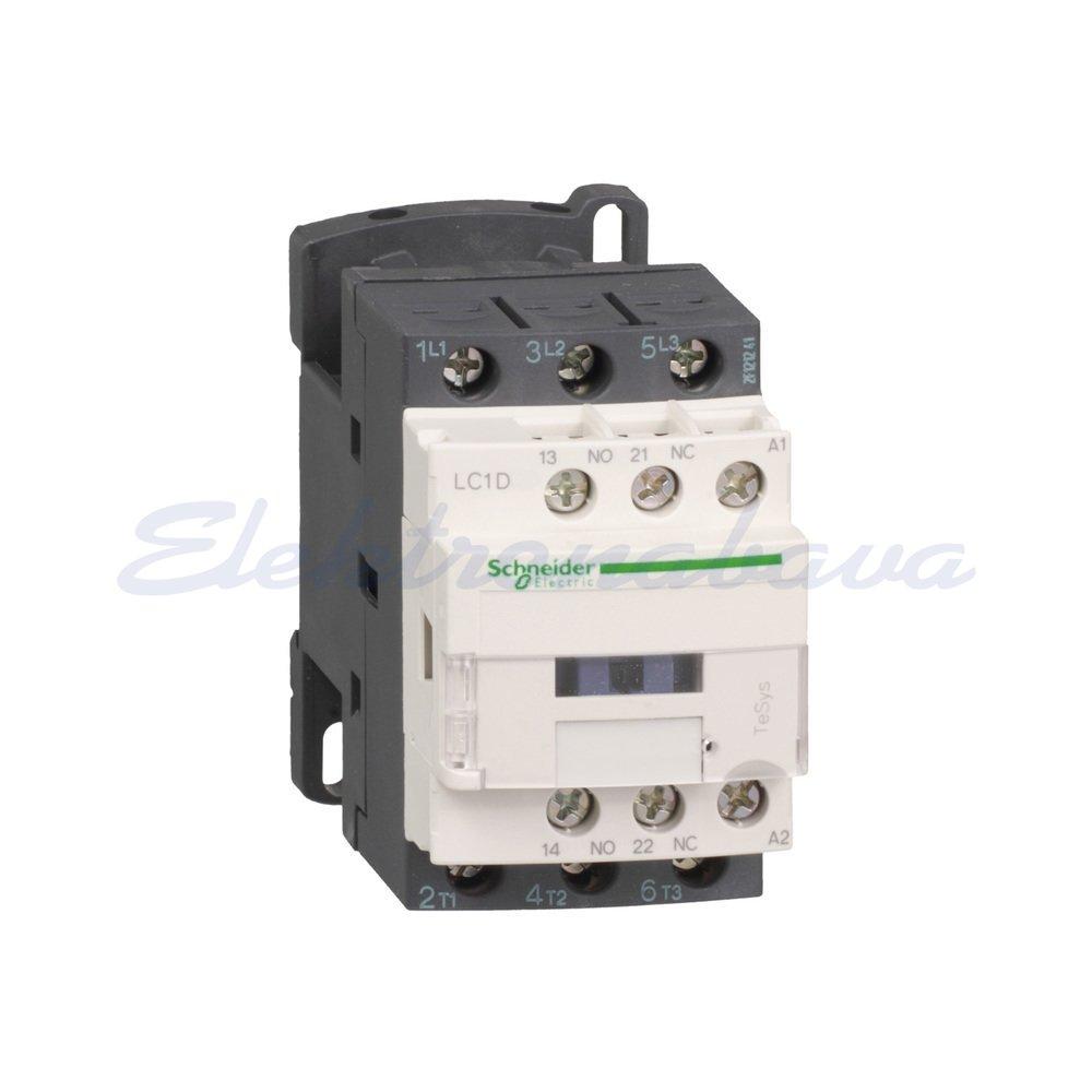 Slika izdelkaAC Kontaktor TESYS D 3P 18A 7,5kW 1NO 1NC 24V DC