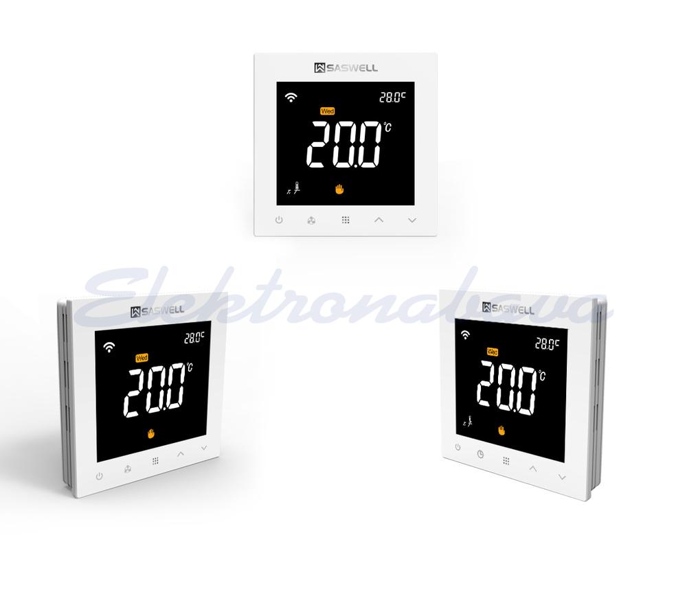 Slika izdelkaSobni termostat SASWELL tipke na dotik P/O digitalni tedenski BE 5-35ST.C