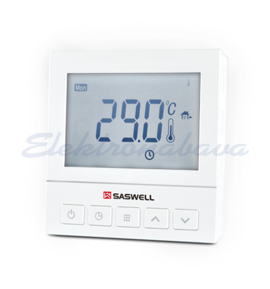 Slika izdelkaSobni termostat SASWELL P/O digitalni tedenski BE 5-35ST.C 3A/230V