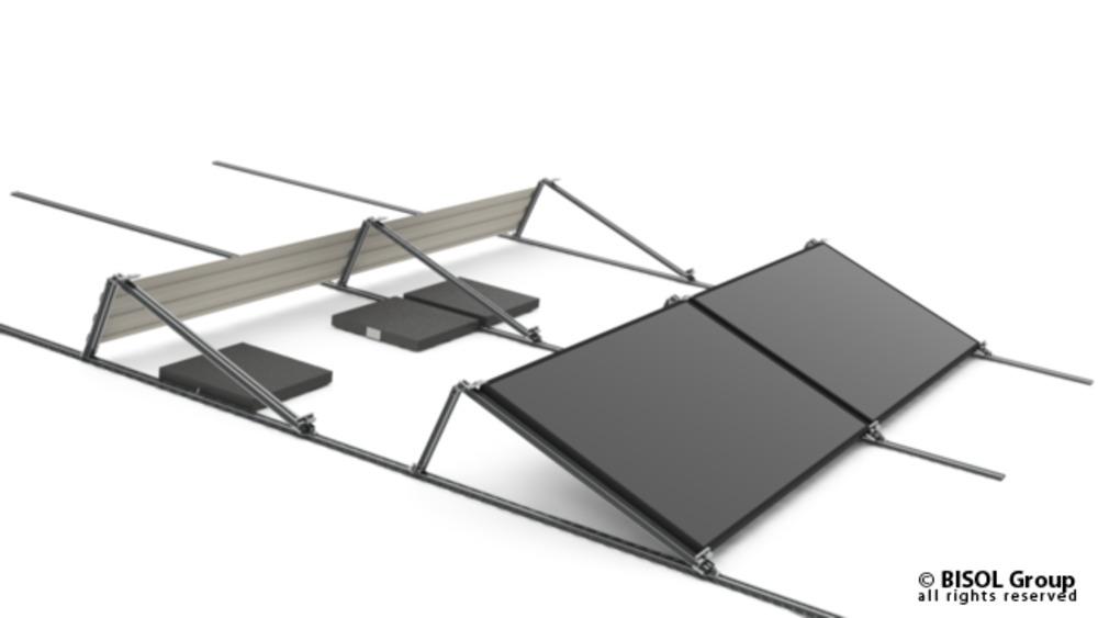 Profil za solarno konstrukcijo BISOL EasyMount ALU Base 125 12,5° A-nosilec