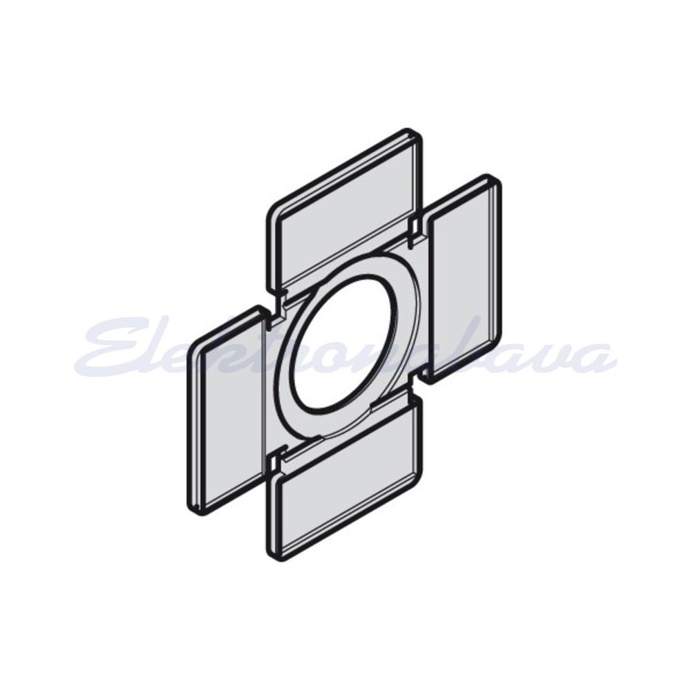 Slika izdelkaNapisna ploščica - nosilec PLATINUM za 2/4 polož.ročični preklopnik pravokotno ČR
