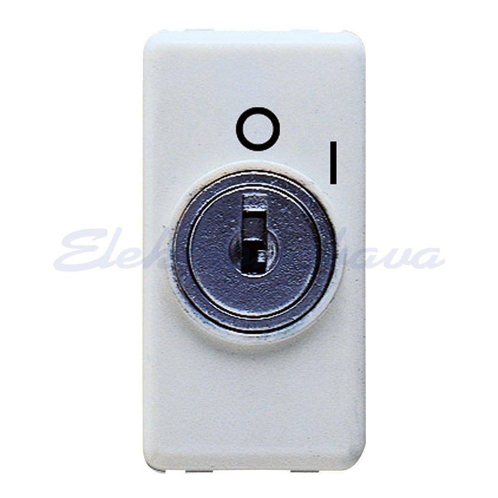 Slika izdelkaStikalo SYSTEM Ključ P/O 2P BE 10A brez osvetlitve IP41 1M